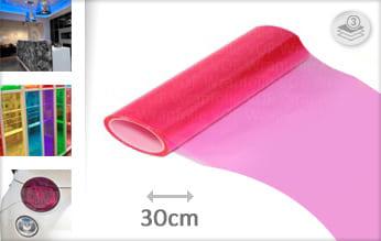 Roze lampen folie
